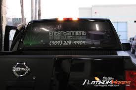 100 Rear Window Graphics For Trucks Dj Back Window Wrap Graphics Truck Platinum Wraps Back Window Wraps