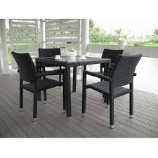 Panama Rattan 4 Seater Square Table Garden Furniture Set
