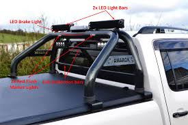 To Fit 10-16 Volkswagen Amarok Roll Bar + LEDs + Brake Light + Light ...