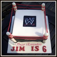 Wwe Divas Cake Decorations by Wrestling Ring Cake For Jim Sugar Everywhere
