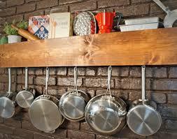 kitchen Mesmerizing Diy Pot Rack Kitchen Storage And Shelf Ikea