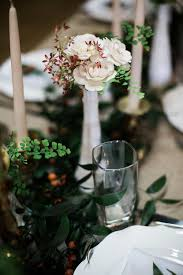 Bud Vases And Garland For Head Table Nashville Wedding Flowers