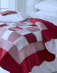 Red Gingham Boys Bedroom Quilt I Really Like This Simple Pattern