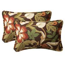 Sears Lounge Chair Cushions by Amazon Com Pillow Perfect Decorative Brown Green Tropical Toss