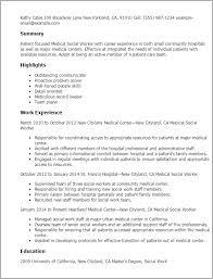 Resumes For Social Work
