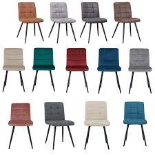 esszimmerstuhl aus stoff samt farbauswahl stuhl retro design polsterstuhl mit rückenlehne metallbeine duhome 8043b samtmöbel