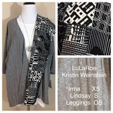 lularoe white irma grey lindsay black and white leggings in my