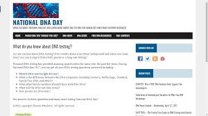 Genea-Musings: National DNA Day Website Announced 23andme Vs Ancestry Dna An Unbiased Uponsored Review Coupon 23andme Or Bargain Rue 21 Printable Coupons October 2018 Ancestrydna Discount For 40 Off An Test Kit Best Deals 2019 Offers Discounts On World Market Free Shipping Jack Rogers Wedge Sandals Owler Reports Couponspig Blog 25 Smile Software 2016 Your Genetic Genealogist Coupon Code Ancestry Com Mastering Search Easy Tips To Help You Uncover More Records Personal Only 4844 At Target A Explorer Code Home Facebook