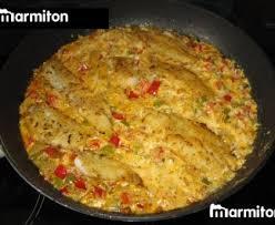 cuisiner merlan filets de merlan à la crème de poivrons recette de filets de