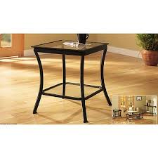Walmart Metal Sofa Table by Mendocino Side U0026 End Table Metal U0026 Glass Walmart Com
