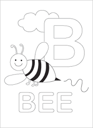 Printable Alphabet Coloring Pages Bee