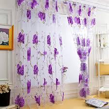 orange kingko transparent gardine vorhang schlaufenschal