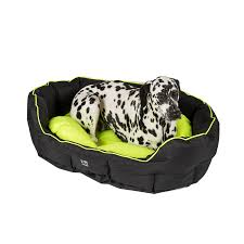 Xlarge Dog Beds by 3 Peaks Black Nevis Scalloped Dog Bed X Large Pets At Home