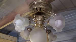 Panasonic Ceiling Fan Humming Noise by 42 U0027 U0027 Polished Brass Hugger Ceiling Fan For Sale On Ebay Youtube