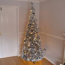 7ft Slim Led Christmas Tree by Super 7 Ft Pre Decorated Pop Up Christmas Tree Peachy Pre Lit Warm