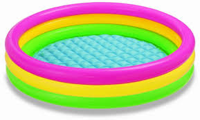 The Intex Kids Summer Sunset Glow Design Kiddie Pool Is On Sale For 1374 At Amazon Right Now Thats 50 Off List Price Of 2749