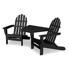 Red Adirondack Chairs Polywood by Polywood Adirondack Tete A Tete Chairs Weatherproof Outdoor