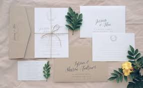 Silver Foil Rustic Invitation Suite