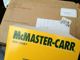 McMaster Carr Catalog 118 Wieghing In At 7lbs 105 Ounces Addressed To Chief Engineer Ladyada