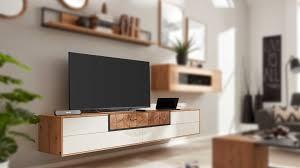 interliving wohnzimmer serie 2106 lowboard 620601 weißer lack asteiche drei klappen zwei schubladen