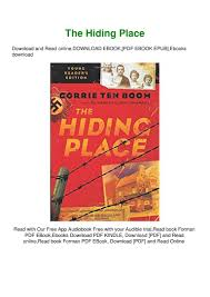 100 The Hiding Place Ebook Free FREE DOWNLOAD READ DOWNLOAD