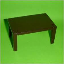 playmobil tisch esszimmer wohnzimmer küche braun aus