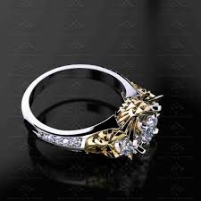 sapphire studios zelda 2 70ct trio diamond white yellow rose
