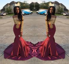 charming african style off shoulder prom dresses 2017 gold and