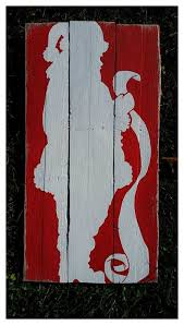 Santa Claus Pallet Sign Checking His By PrimitivePaintings