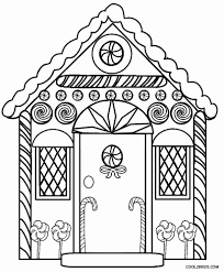 Printable Gingerbread House Coloring Pages For Kids And Free