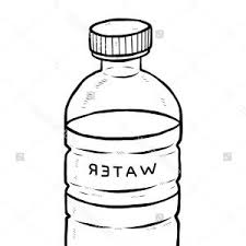 Excellent Bottle Water Clipart Black And White Picture