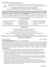 Examples Of Resumes For Management