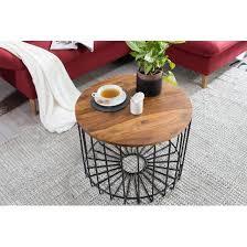 couchtisch wl5 645 sheesham 60 x 42 x 60 cm holz metall beistelltisch industrial style echtholz tischchen wohnzimmer holztisch sofatisch