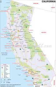 Travel Map Of California And Information