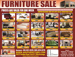 WEEKLY SALE FLYER ARV FURNITURE MISSISSAUGA TORONTO ONTARIO