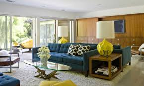 modern chairs mid century modern living rooms large blue
