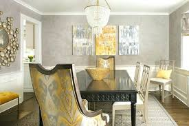 Grey And Yellow Dining Room Ideas Gray With Wainscoting Contemporary