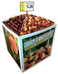 Cardboard Grocery Display Bin Corrugated Store Produce