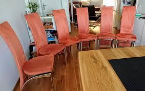6 esszimmerstühle orange microfaser kaufen auf ricardo