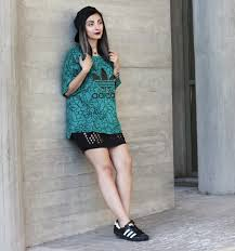 fosbloque cutcuutur black tight skirt adidas oversized sporty t