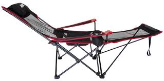 Reclining Camping Chairs Ebay by Chairs Anigu Mesh Lounge Reclining Folding Camp Chair With