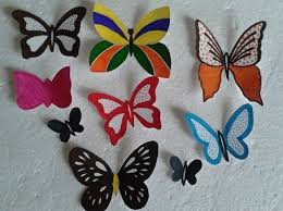DIY Butterfly Wall Decor Colorful Template