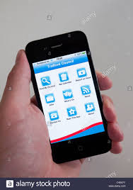 Local government information app for iPhone 4G smart phone by