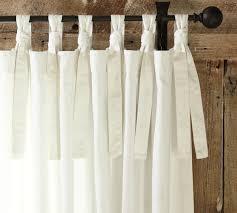 Textured Cotton Tie Top Drape