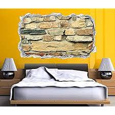 3d wandtattoo durchbruch steine steinmauer stein mauer wand aufkleber wanddurchbruch sticker selbstklebend wandbild wandsticker wohnzimmer 11o2348
