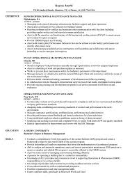Maintenance Coordinator Resume Example Images Gallery