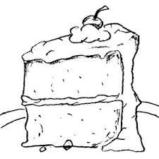 Cake black and white cake black and white clipart 5