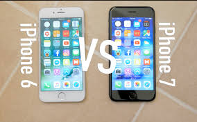 iPhone 6 and iPhone 7 parison
