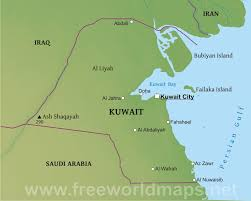 100 Where Is Kuwait City Located Physical Map
