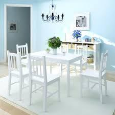 esstisch set 7 teilig esstisch mit 6 stühlen esstisch sitzgruppe aus pinienholz weiß möbel möbelgarnituren küchen esszimmergarnituren
